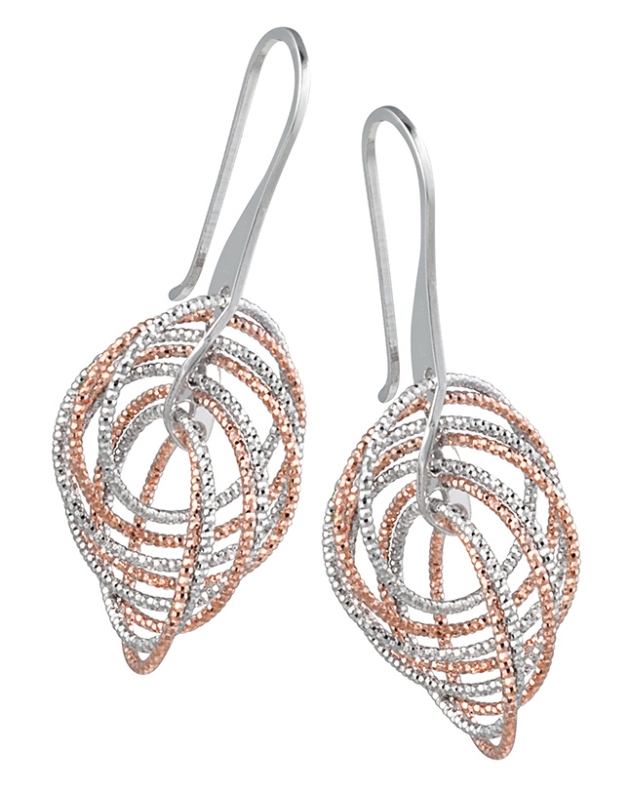 Frederic-Duclos-Dangle-Earrings-in-Silver-and-Rose-Gold