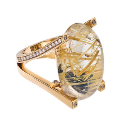 Hot jewelry trend golden rutilated quartz david perry for Golden rutilated quartz jewelry